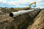 Construction, pipe laying (Credit: Kieran Campbell)