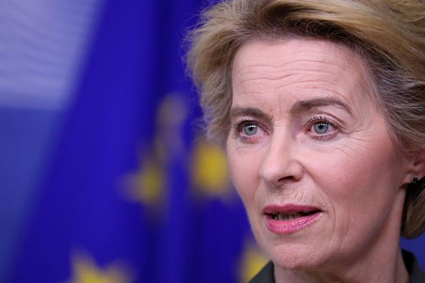 Ursula von der Leyen: green deal is 'Europe's man-on-the-moon moment' (Photo by ARIS OIKONOMOU/AFP via Getty Images)