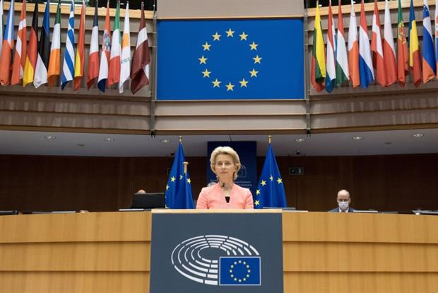 Commission president Ursula von der Leyen has promised to review all EU energy and climate legislation in light of a 55% emissions cut by 2030. Photo: Etienne Ansotte / EC - Audiovisual Service