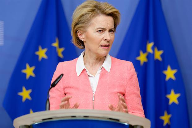 Ursula von der Leyen: 'We are acting today to make the EU the world's first climate neutral continent by 2050' (Photo by Thierry Monasse/Getty Images)
