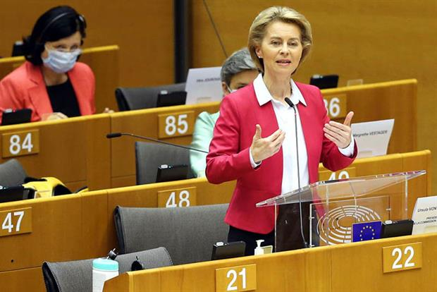 Von der Leyen: 'We can set down the foundations for a climate neutral Europe' (Photo by Dursun Aydemir/Anadolu Agency via Getty Images)
