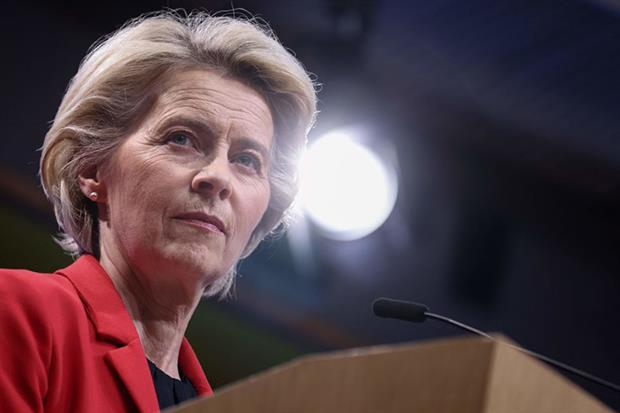 Ursula von der Leyen: EU executive plans to unveil dossier of legislative proposals in December (Photo by KENZO TRIBOUILLARD/AFP via Getty Images)
