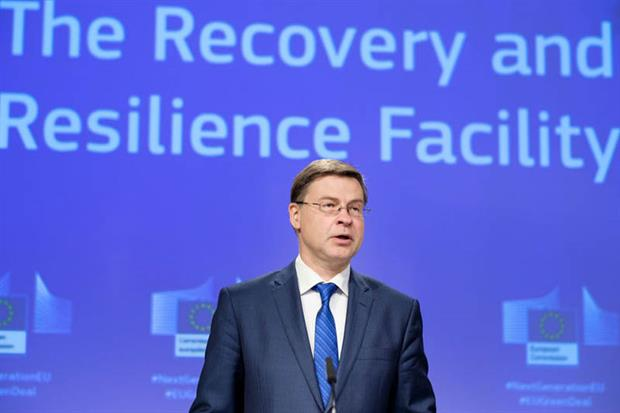 Dombrovskis: called on MEPs and member states to agree to the plans (Photo by Thierry Monasse/Getty Images)