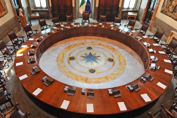 Hall of the Italian Council of Ministers. Pic:Governo Italiano - Presidenza del Consiglio dei Ministri