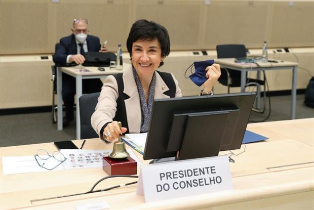 Portuguese agriculture minister Maria do Céu Antunes opens Monday's EU Council meeting. Photo: European Union