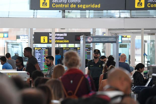 El Prat airport, Barcelona: city council has called for restrictions on short-haul domestic flights (JOSEP LAGO/AFP via Getty Images)