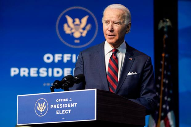 US president-elect Joe Biden introduces his climate and environment team in Wilmington in December. His picks have received widespread praise from energy experts and campaigners. Photo: Joshua Roberts/Getty Images