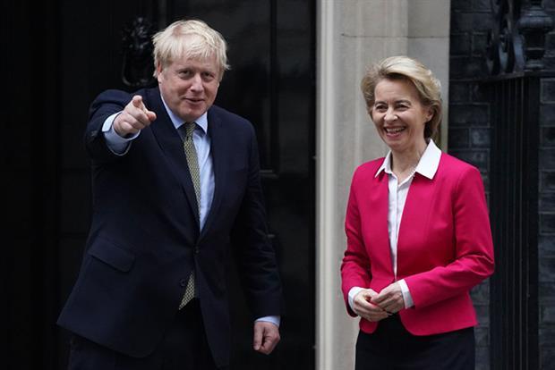 Ursula von der Leyen met British prime minister Boris Johnson in London (Photo by Peter Summers/Getty Images)