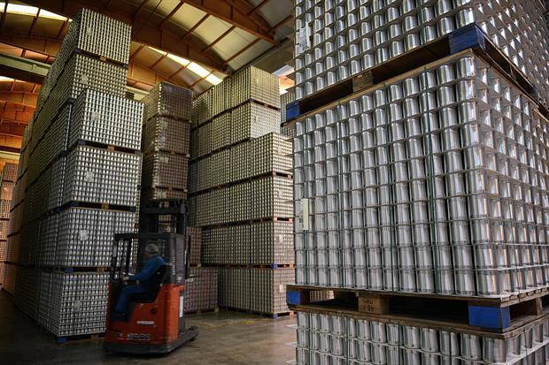 Food cans stacked high covered by a polish containing the chemical bisphenol A. ECHA has labelled the chemical a substance of very high concern. Photo: Philippe Desmazes /AFP/ Getty Images