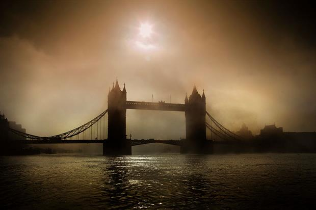 Fog over London's Tower Bridge: The UK is still facing EU legal action for illegal levels of air pollution. Photo: In Pictures Ltd./Corbis via Getty Images