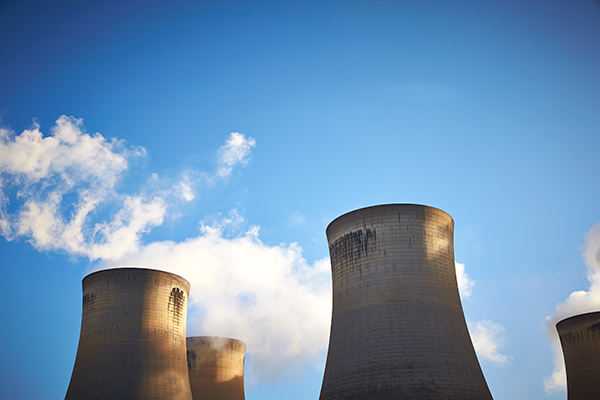Energy, cooling towers at Drax power plant (photograph: Drax)