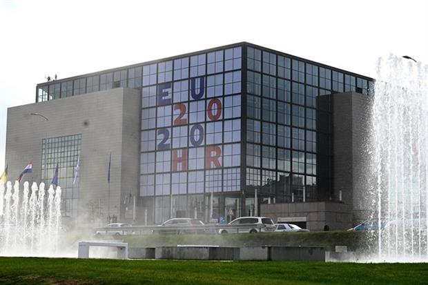 Croatia's National and University Library in Zagreb (Photo by DENIS LOVROVIC/AFP via Getty Images)