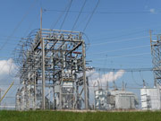 Electricity grid, substation