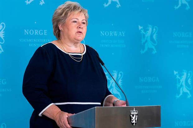 "Erna Solberg: acknowledged that CCS was ""still an immature mitigation solution in many ways"" (Photo by BERIT ROALD/NTB Scanpix/AFP via Getty Images)"