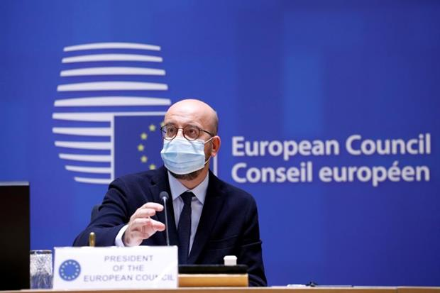 European Council president Charles Michel before Thursday's meeting: Heads of state and government met to discuss the long-term budget, Brexit and climate target. Photo: European Union