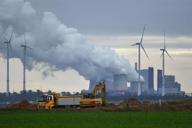 Emissions: EU has new target to achieve a 55% net reduction on 1990 levels of greenhouse gas output by the end of the current decade (Photo by INA FASSBENDER/AFP via Getty Images)