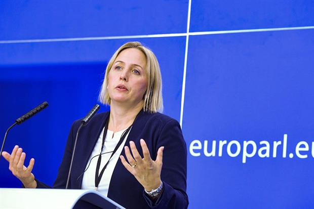 Jytte Guteland: vote is a 'historic moment' (Image credit: Benoit BOURGEOIS, © European Union 2020 - Source : EP)