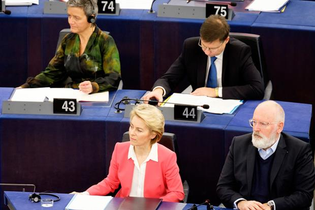 European Parliament votes on new commissioners (Photo by Thierry Monasse/Getty Images)