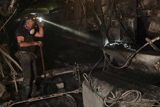 Coal miner: Poland was the only member state opposed to the proposal at the European Council in December (Photo by Sean Gallup/Getty Images)