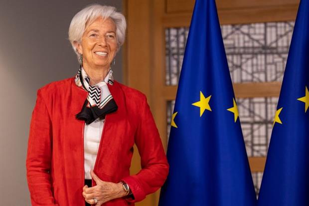 Christine Lagarde in March: The ECB president has made climate change a major focus for the central bank. Photo: Olivier Matthys/Getty Images