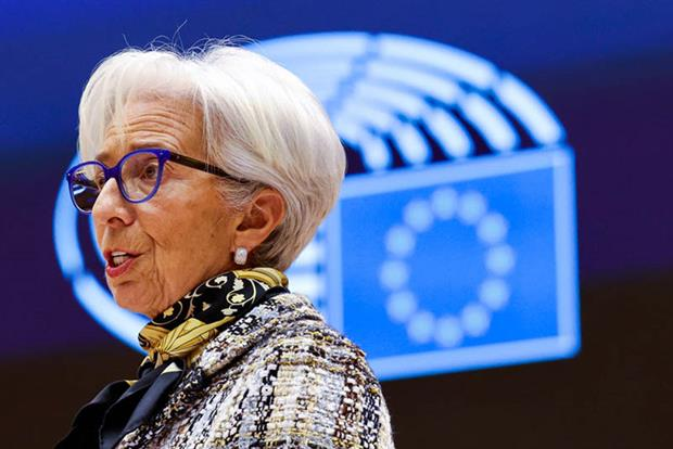 Christine Lagarde: the ECB has pledged to set up a dedicated climate change policy team reporting directly to its president (Photo by OLIVIER MATTHYS/POOL/AFP via Getty Images)