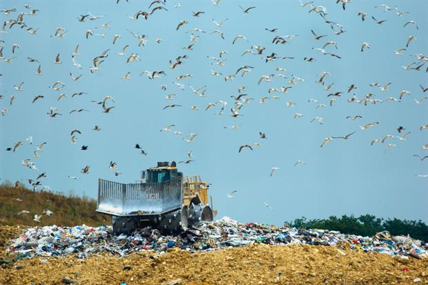 A landfill in Soignolles, near Paris. Campaigners worry banning the practice could lead to an over-reliance on incineration. Photo: Jean-Christophe Pratt/Construction Photography/Getty