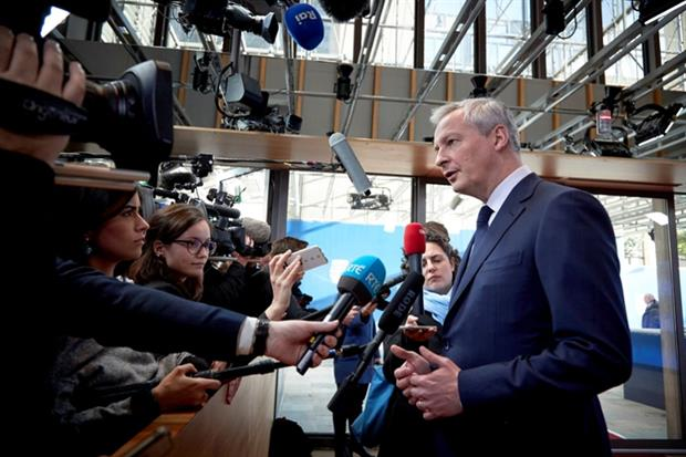 People: Bruno Le Maire, French minister for economic affairs, finance and industry at a Eurogroup meeting February 2019 (Image: European Union)