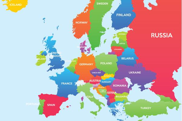 Map of Europe (credit Zarko Cvijovic/123RF)