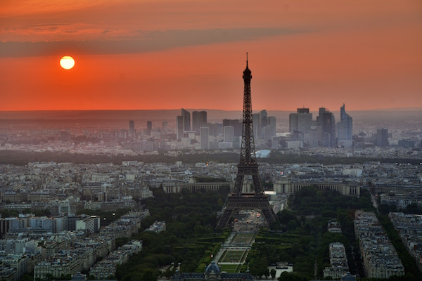France - Paris panoramic sunset (Unsplash)