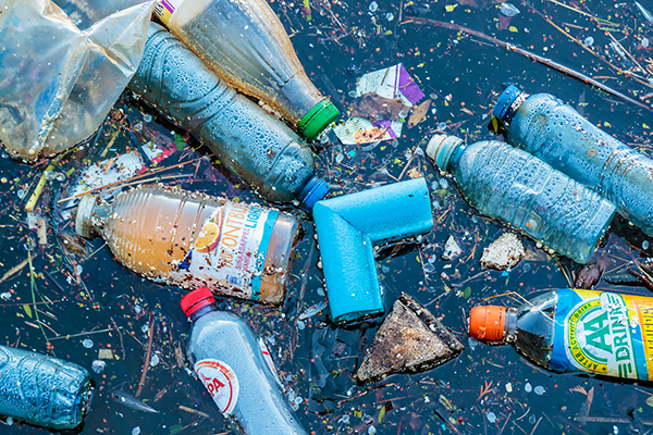 Waste: plastic litter in water (photograph: mediagram/123RF)