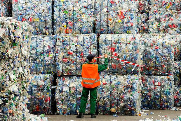 Of 29.1 million tonnes of post-consumer plastic waste collected in the EEA area in 2018, just under a third was recycled (Photo by: Andia/Universal Images Group via Getty Images)