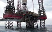 Fossil fuels, offshore platform (Greece)
