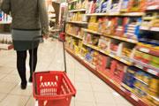 Consumer goods, supermarket