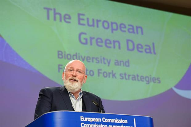 Timmermans: target would mean more than tripling the area of organic farms from the current 8% (Source: EC - Audiovisual Service)