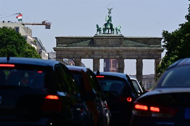 Emissions: CO2 output of new cars sold in Europe was down 12% last year compared to 2019 (Photo by TOBIAS SCHWARZ/AFP via Getty Images)