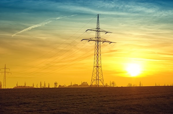 Energy - electricity pylon in sunset (Pixabay)