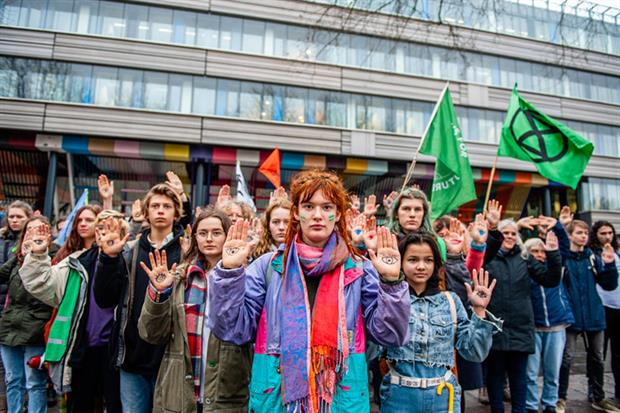 Protest in support of Urgenda climate case in The Hague, Netherlands (photo Ana Fernandez / Echoes Wire / Barcroft Media via Getty Images)