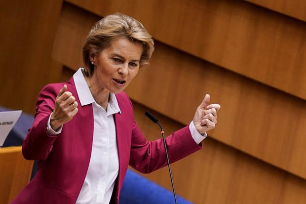 Ursula von der Leyen: plan will not only support the recovery, but will also invest in our future (Photo by KENZO TRIBOUILLARD/AFP via Getty Images)