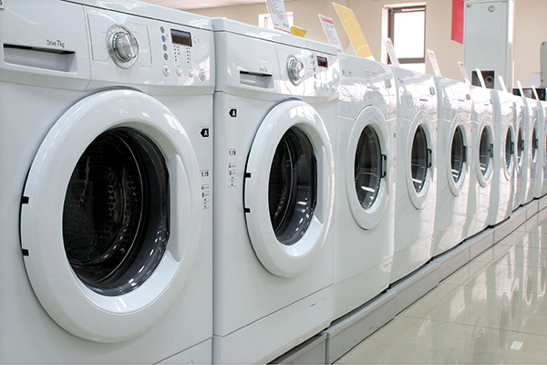 Energy-using products: washing machines in store (photograph: Milkos/123RF)