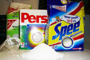 Consumer goods, washing powder