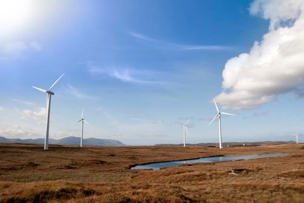 Renewables, wind farm in Ireland (photograph: David Morrison/123RF)