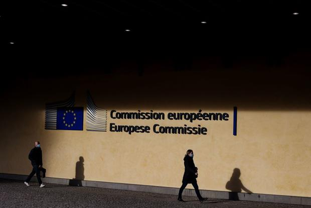 The European Commission's Berlaymont headquarters on Wednesday: Mild weather suggests there will be little chance of a white Christmas in Brussels. Kenzo Tribouillard/AFP via Getty Images