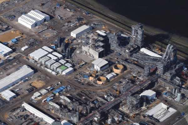 The TV1 site under construction. Image: Google, Infoterra Ltd and Bluesky