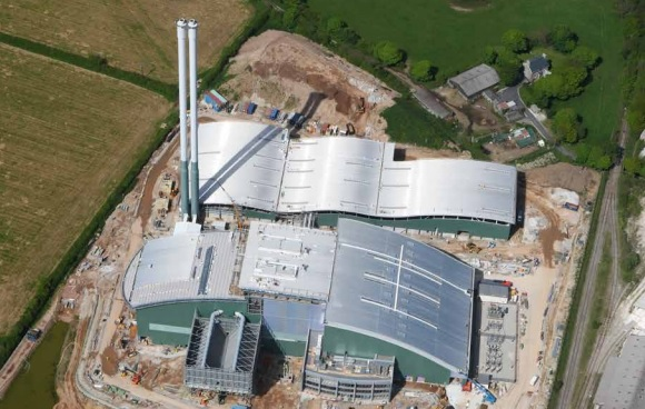The EfW plant pictured during construction