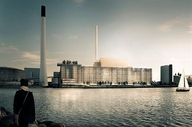 The projected Copenhagen CHP plant which will receive biomass boilers from Valmet