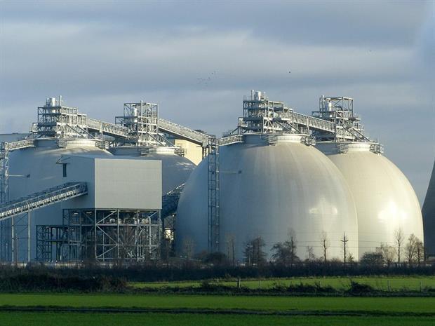 Drax's biomass silos. Photograph: Alan Murray-Rust/Geograph