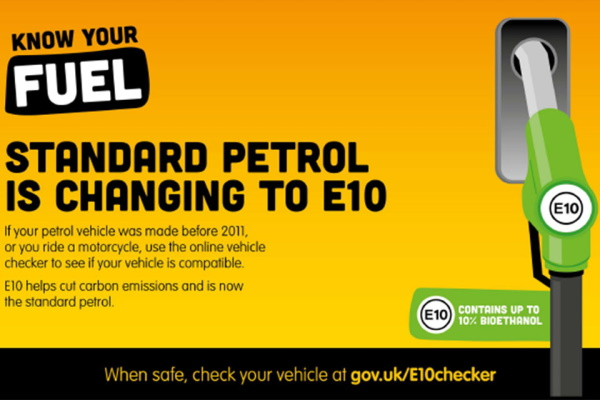 E10 is now the standard petrol served in the UK. Image: Department for Transport