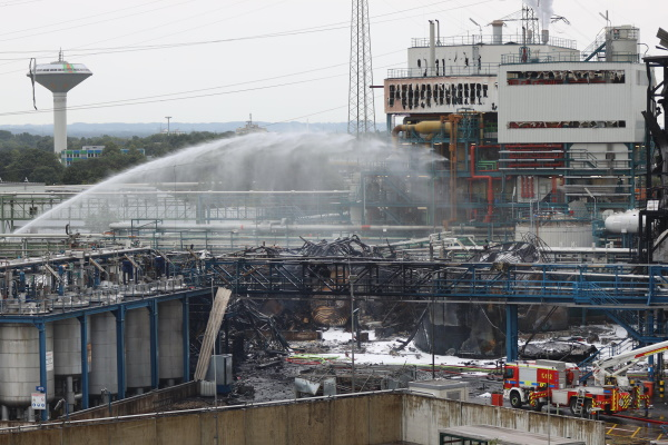 Operator Currenta is cleaning up the debris after the explosion at its EfW plant last week. Photograph: Currenta