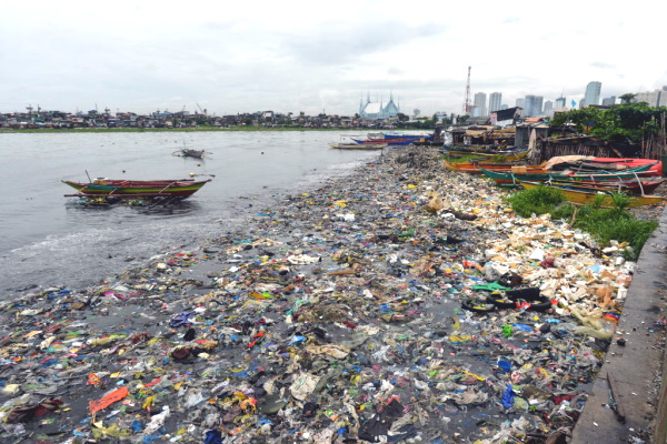 Plastic waste is a chronic problem in Manila. Photograph: NurPhoto / Getty Images
