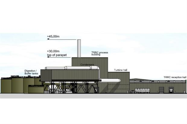 Houghton Main would have generated 23MW of electricity. Credit: Peel Environmental / Studio E LLP